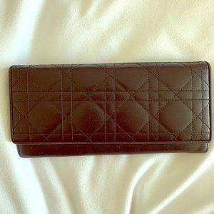 Dior black wallet